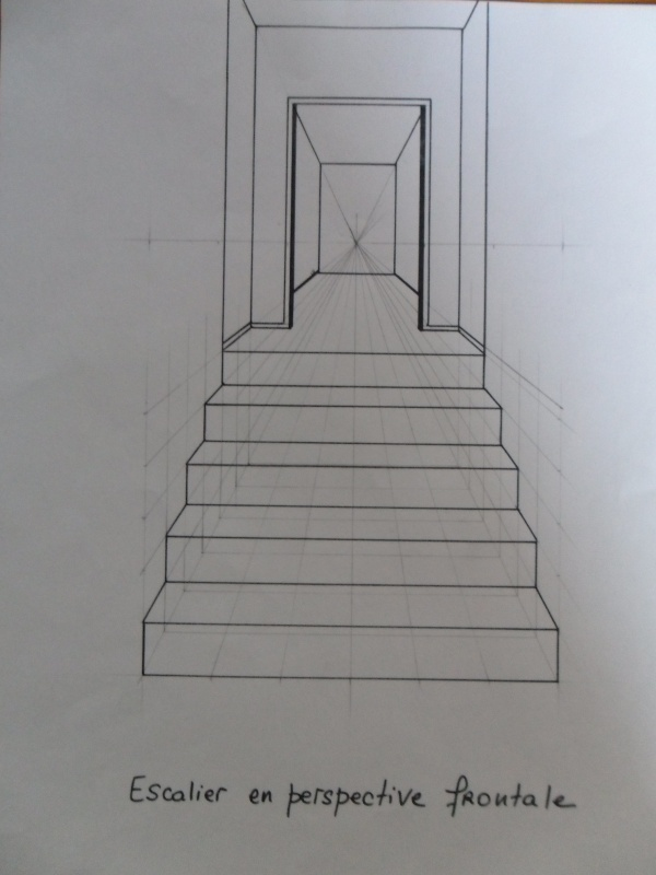 Escalier en perspective frontale d couverte d co - Chambre en perspective frontale ...